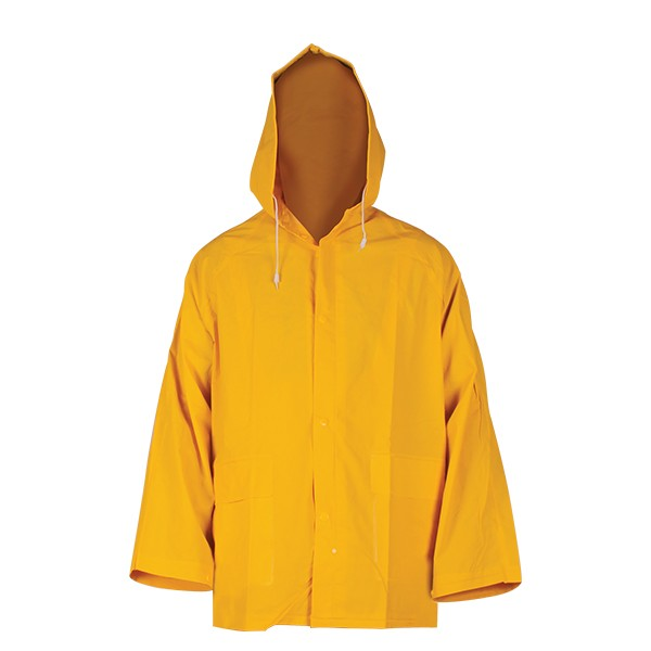 impermeable amarillo hombre